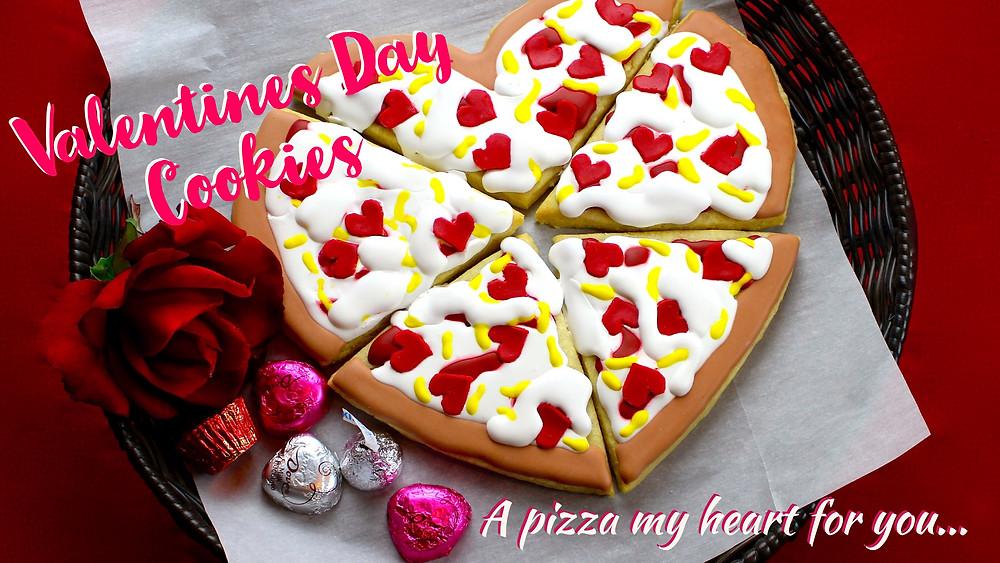 Pizza Heart Cookies