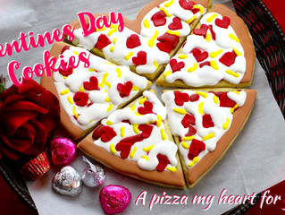 Pizza Heart Cookies