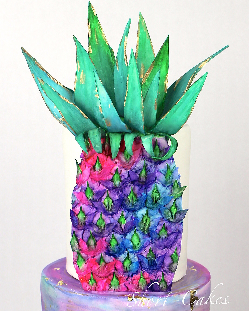 Edible watercolor pineapple cake