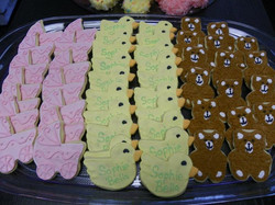 Baby Shower sugar cookies_  Baby carriage, ducky, & teddy bears