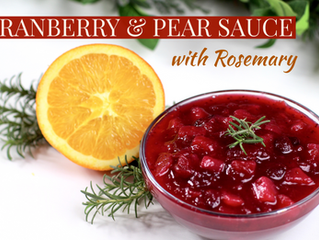 Cranberry Pear Sauce w/ Rosemary