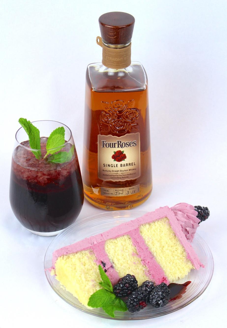 Blackberry Bourbon Cake