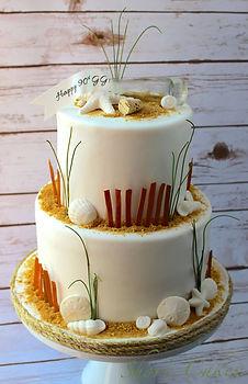 Sandy Beach Themed Cake