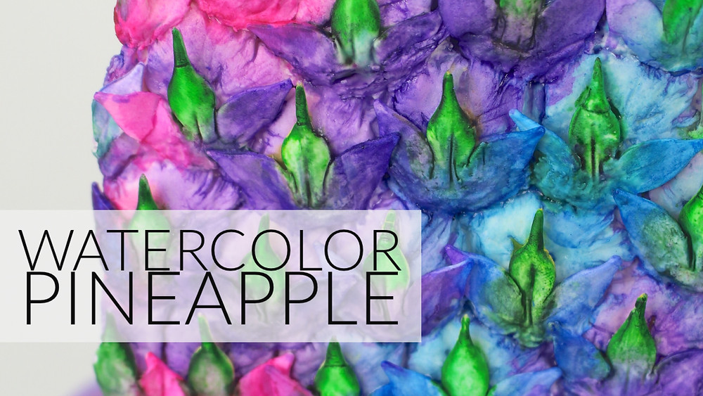 Watercolor Pineapple Tutorial