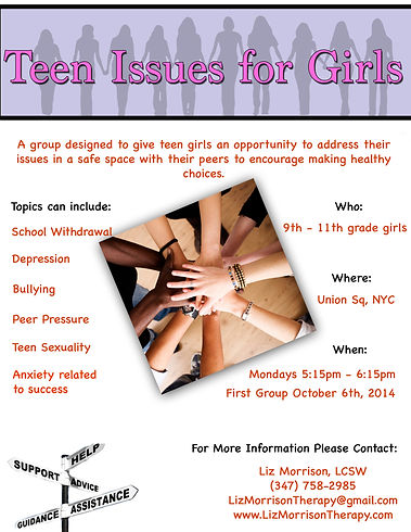 Teen Issues for Girls Group New York