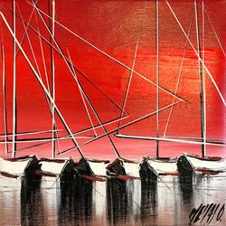Horizon rouge...   20x20cm