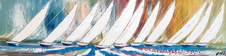 Les voiles blanches...,  40x160cm