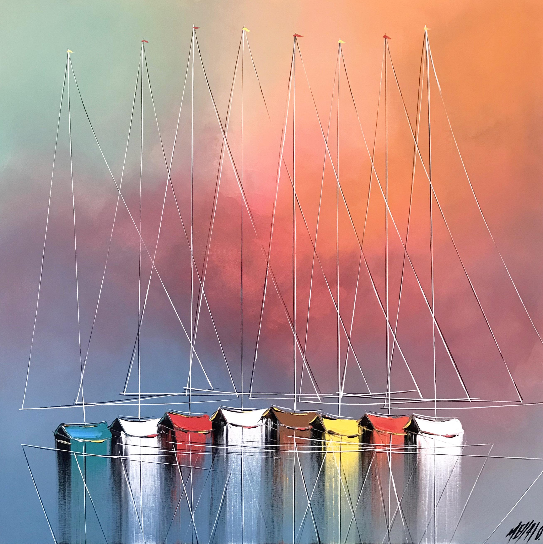 Les couleurs du bonheur... | 80x80cm