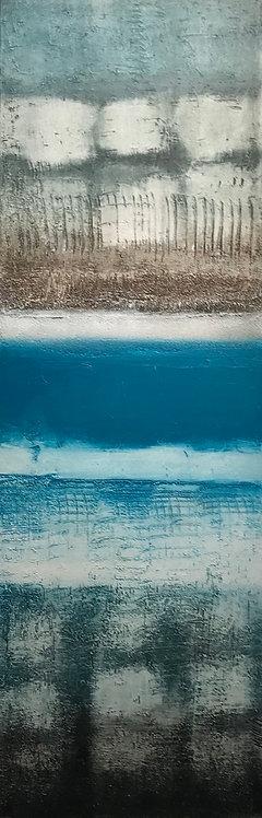 Bleu, Blue, Blau...| 90x30cm