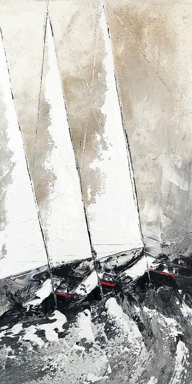 Les trois voiliers... | 120x60cm