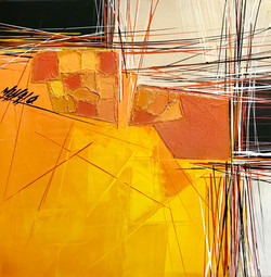Paysage en orange... III   30x30cm