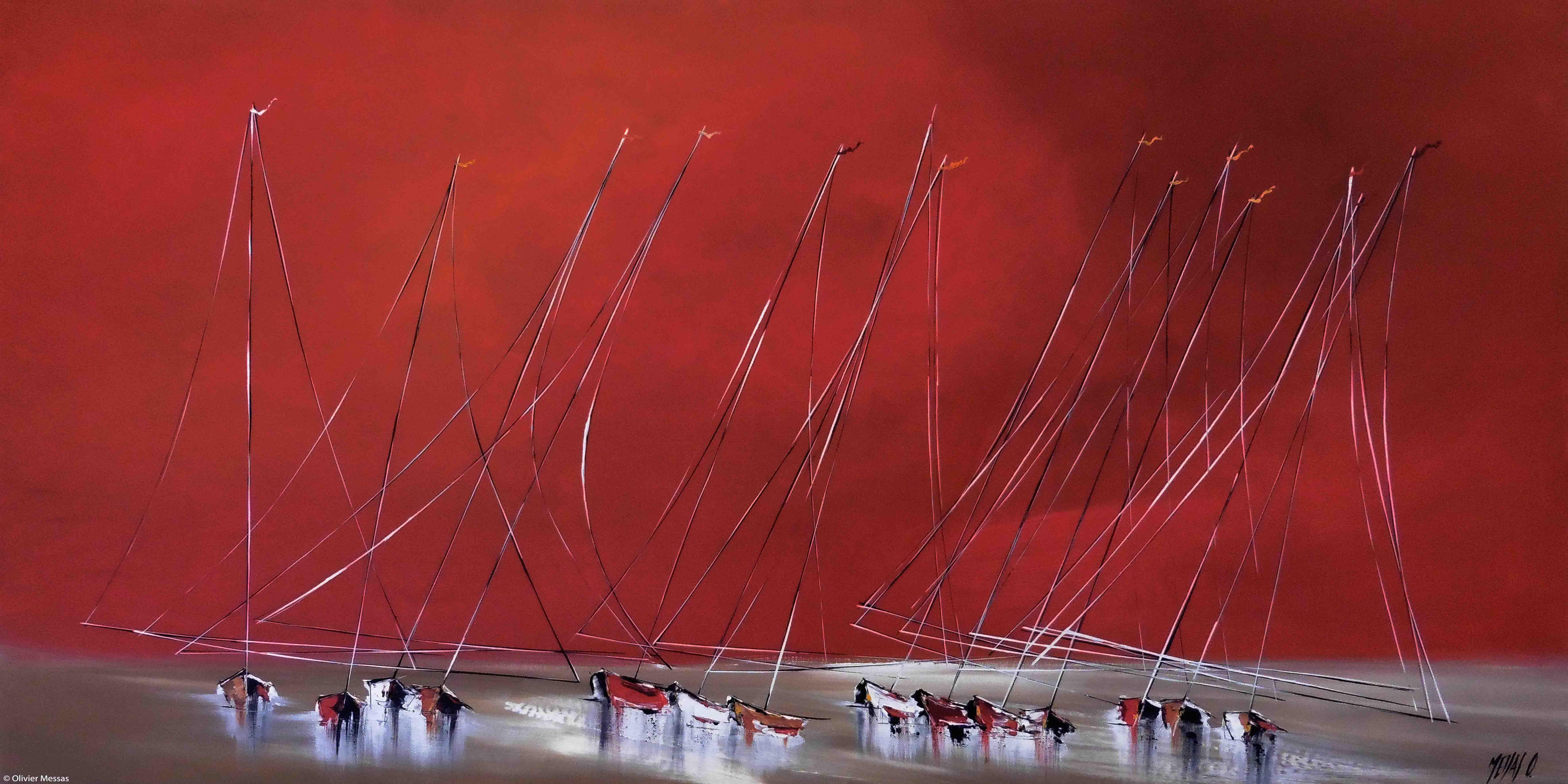 La nuit des voiliers, 60x120cm