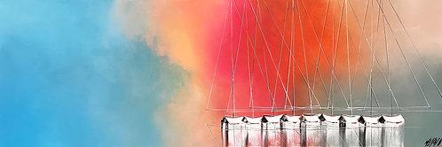 Les voiliers de l'aurore... | 50x150cm🔴