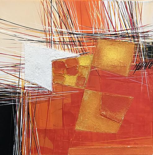 Paysage en orange... VII | 30x30cm