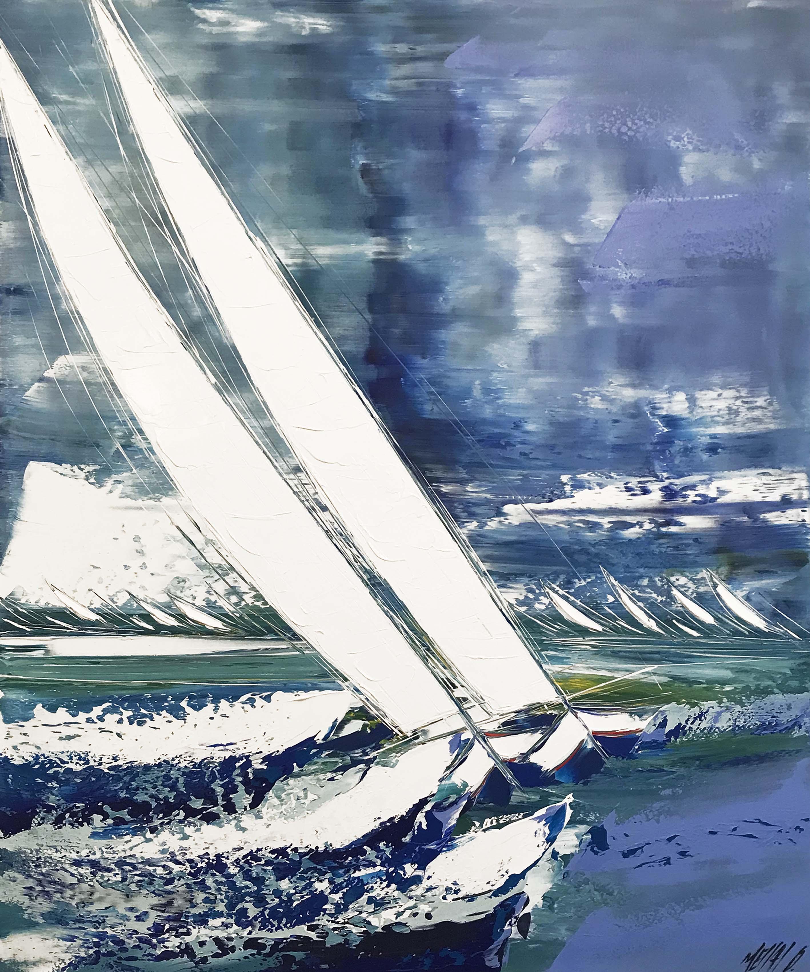 Portés par le vent et les vagues   120x100cm