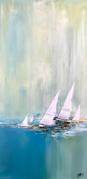 Voyage en voiliers... | 100x50cm