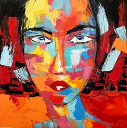 "FRIDA ""portrait 14"" | 80x80cm"