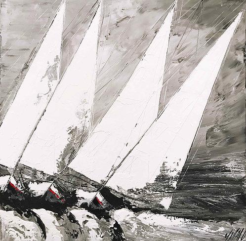 Contre vent et marée... | 100x100cm
