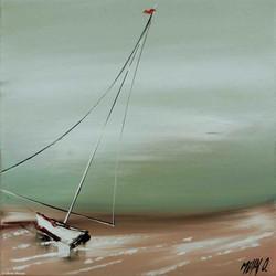 Contre vent et marrée, 30x30cm