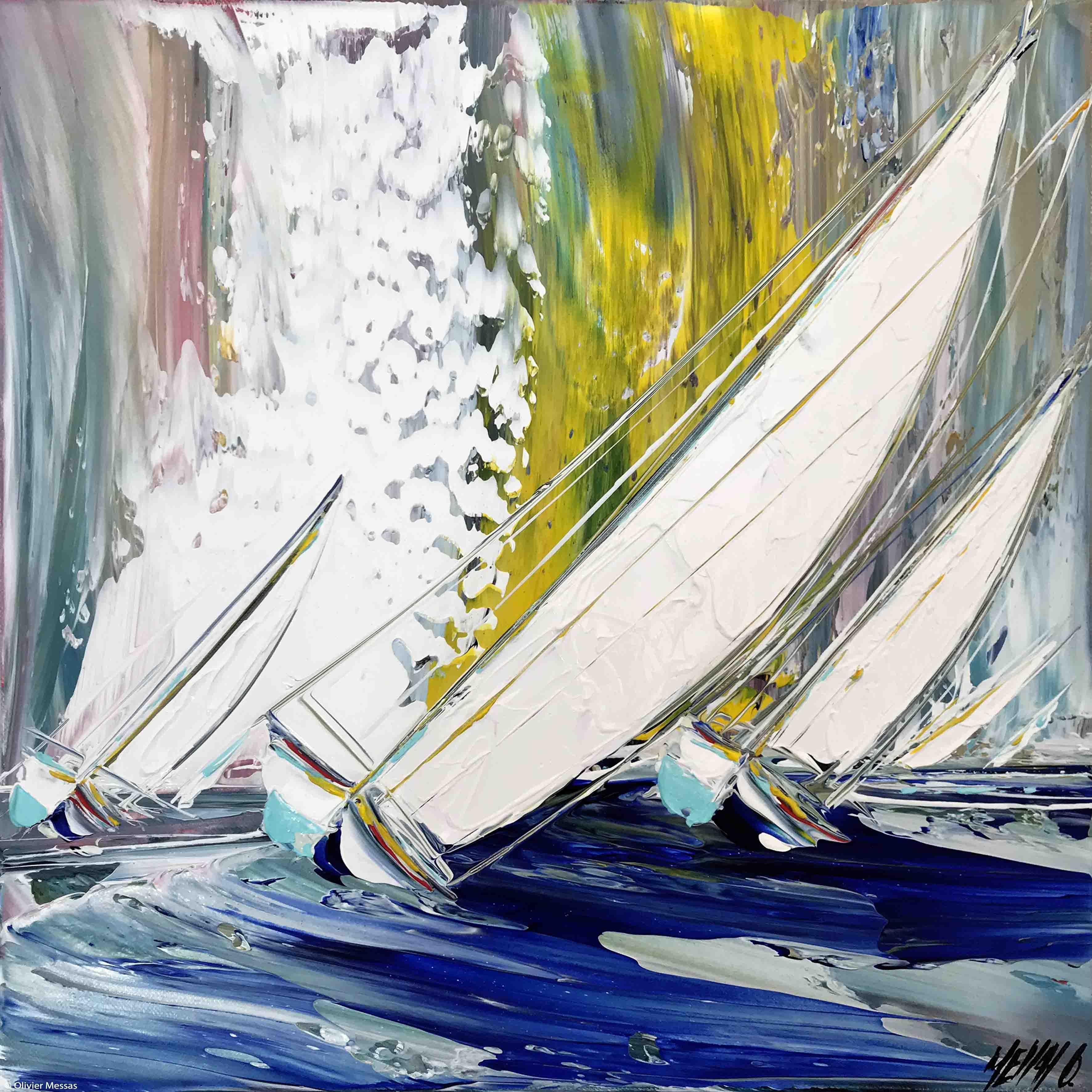 Entre vent et vague... III, 40x40cm