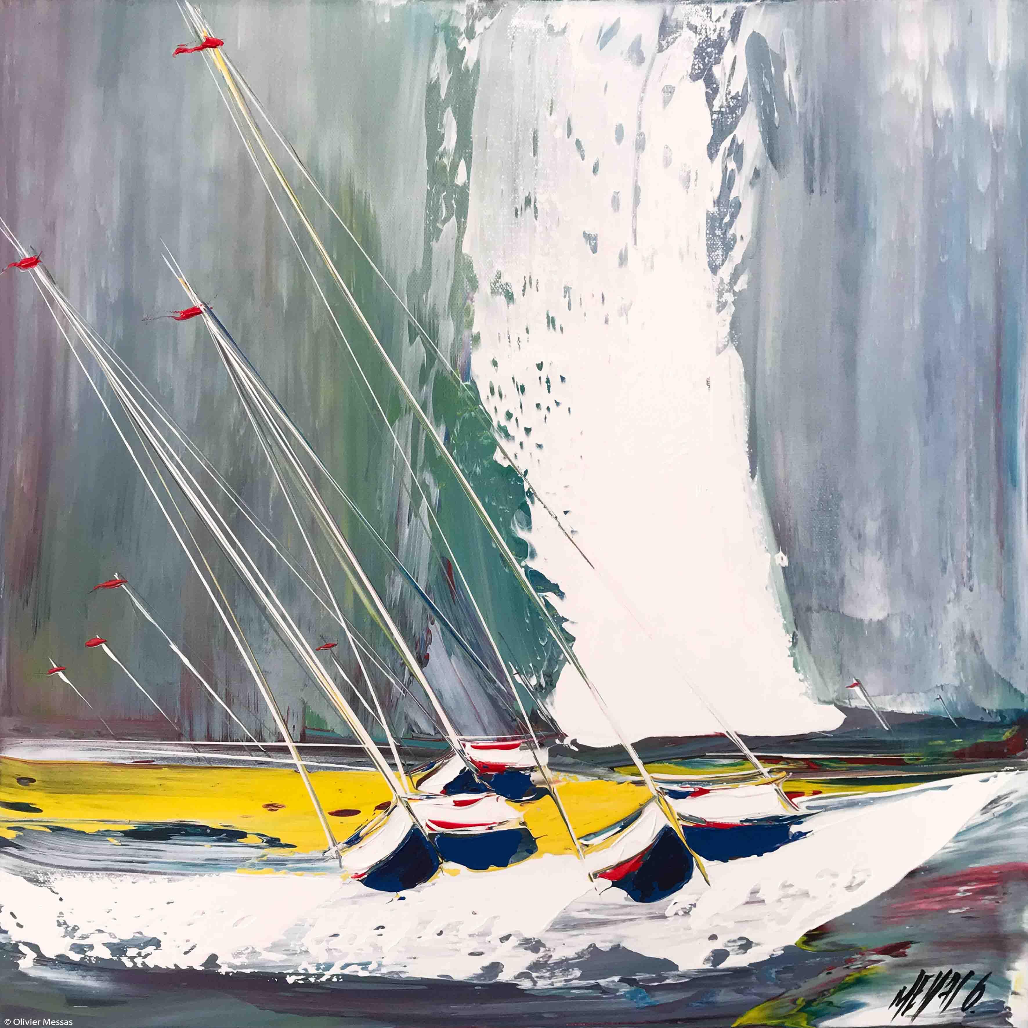 Contre vent et marée II, 50x50x50cm