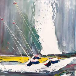 Contre vent et marée... II   50x50x50cm