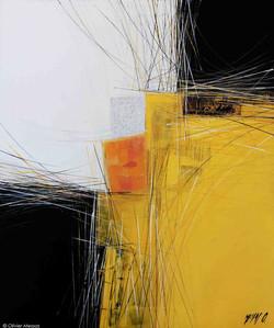 Paysage jaune III, 60 x 50cm