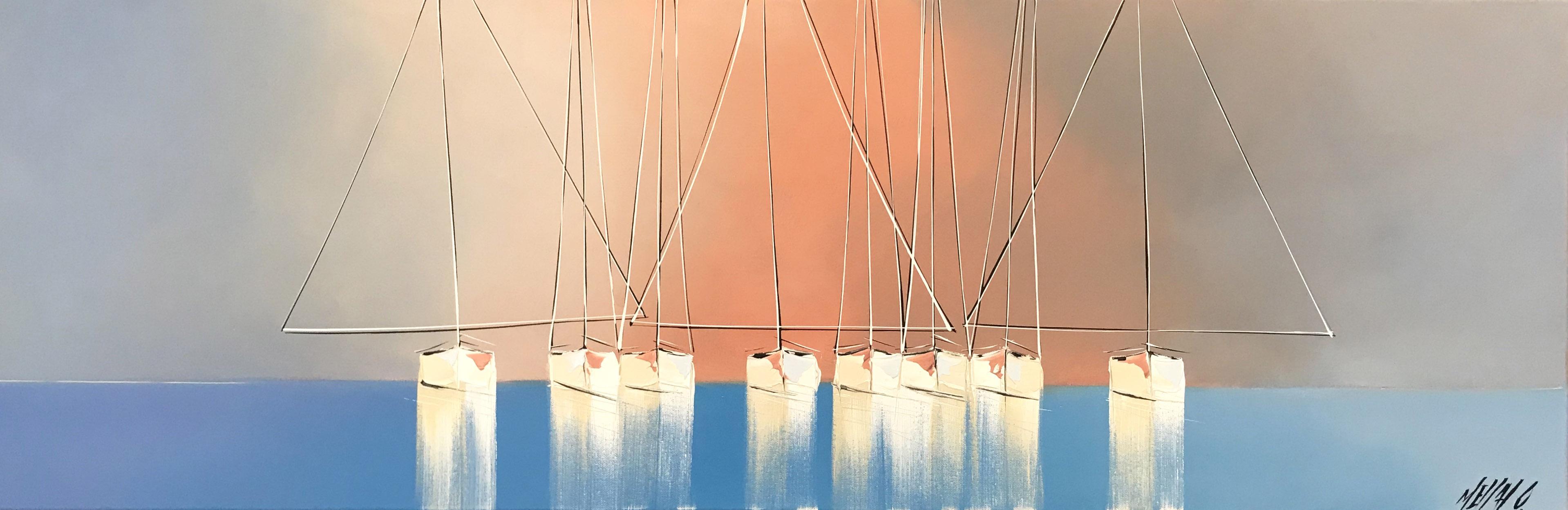 Rêverie en mer   40x120cm