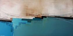Horizon bleu II, 50x100cm