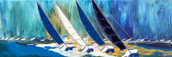 Les reflets bleus du ciel et de la mer... | 40x120cm