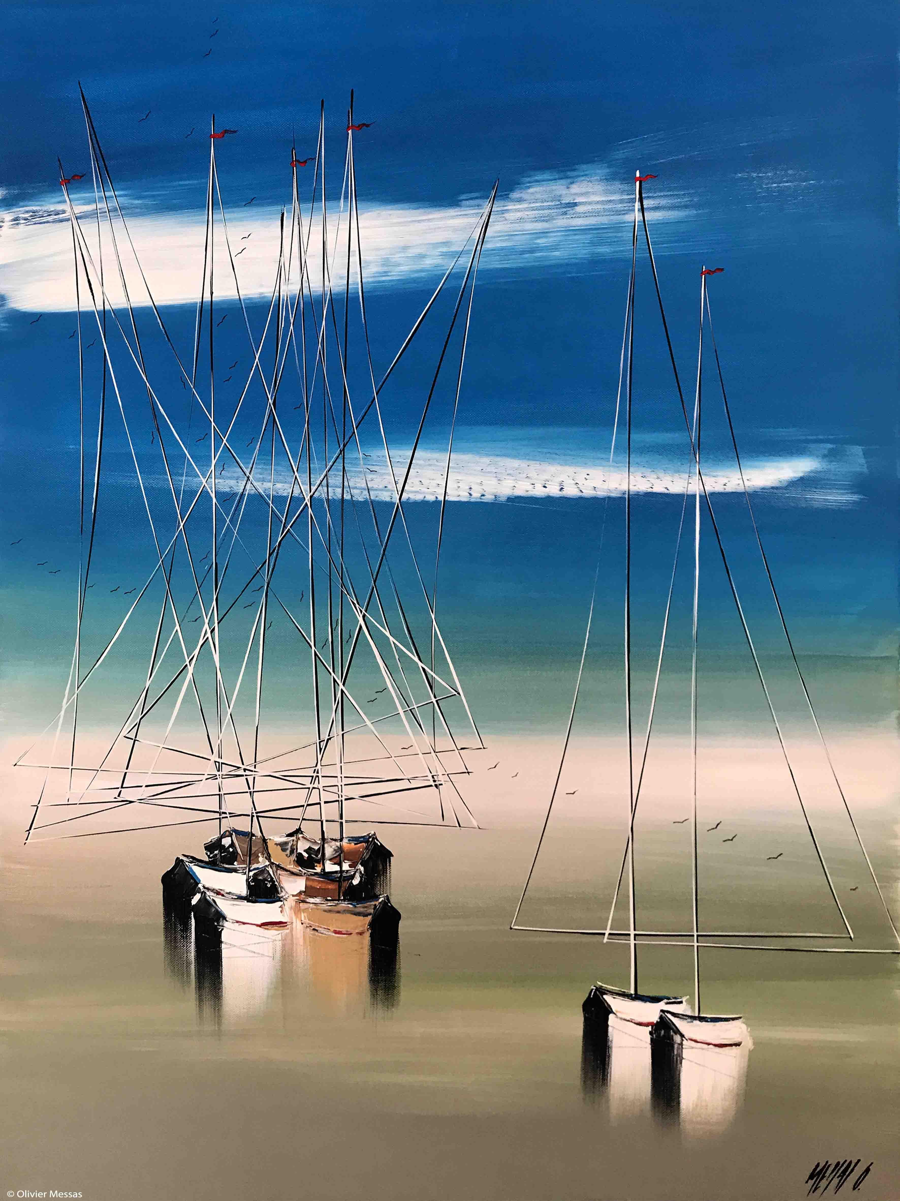 A marée basse II, 80x60cm