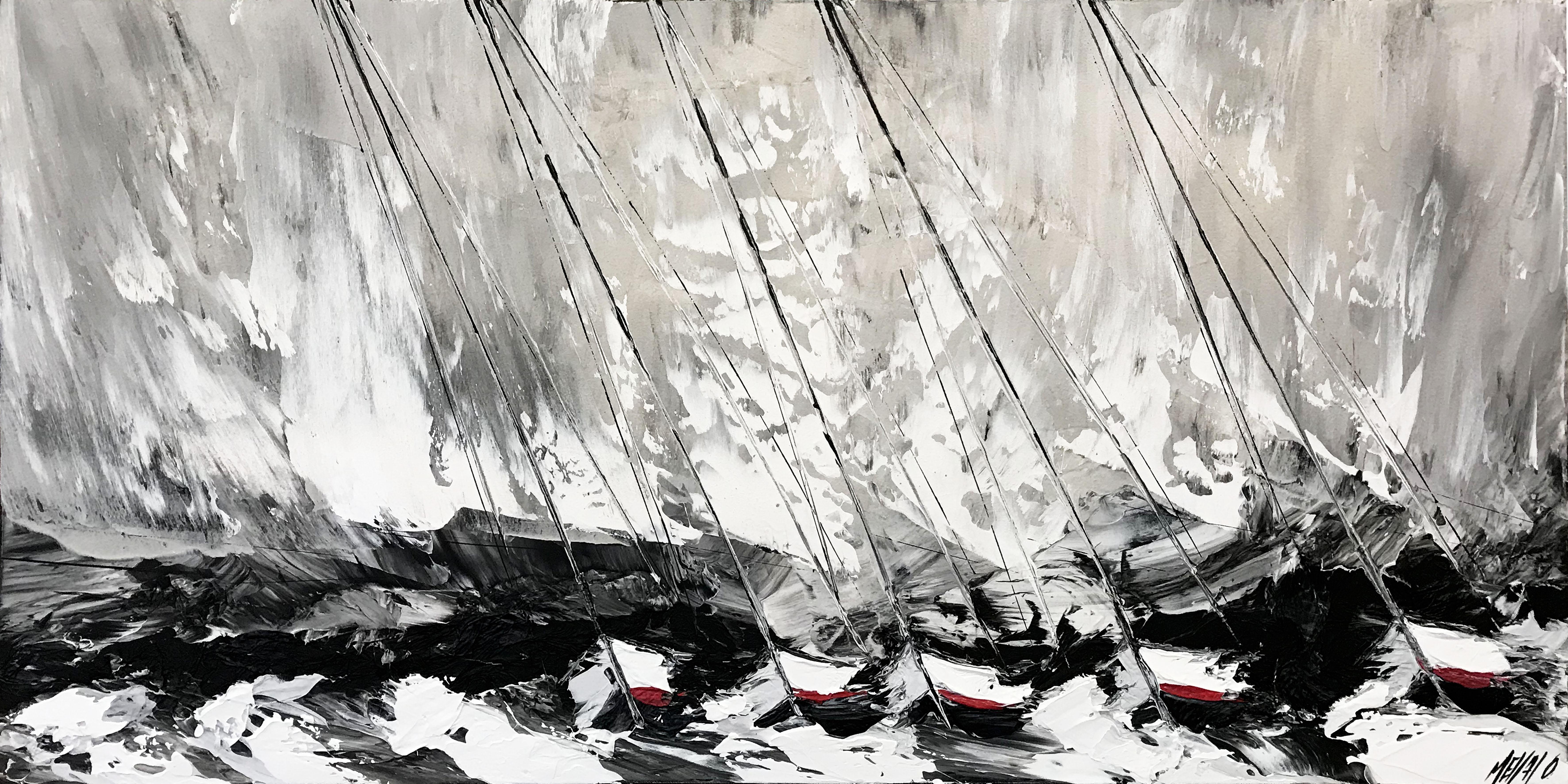 Au coeur de la tempête... | 60x120cm