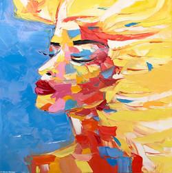 "PRISCILLA ""portrait 5""  | 100x100cm"