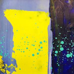 Paysage en jaune... | 9x9cm