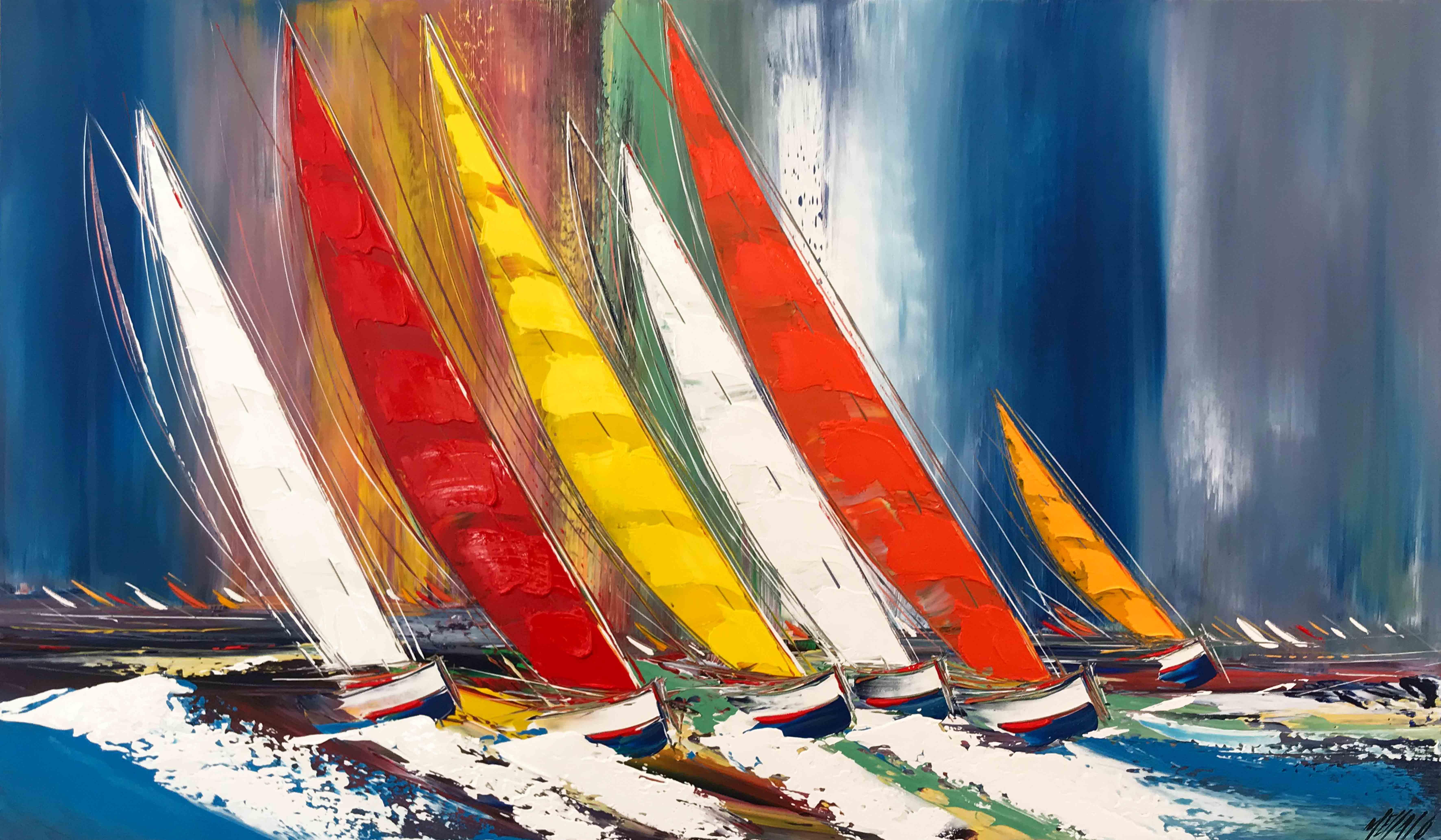Les voiliers de la liberté... | 70x120cm