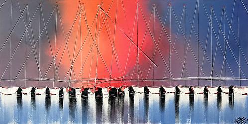Les mâts du soleil Levant... | 50x100cm