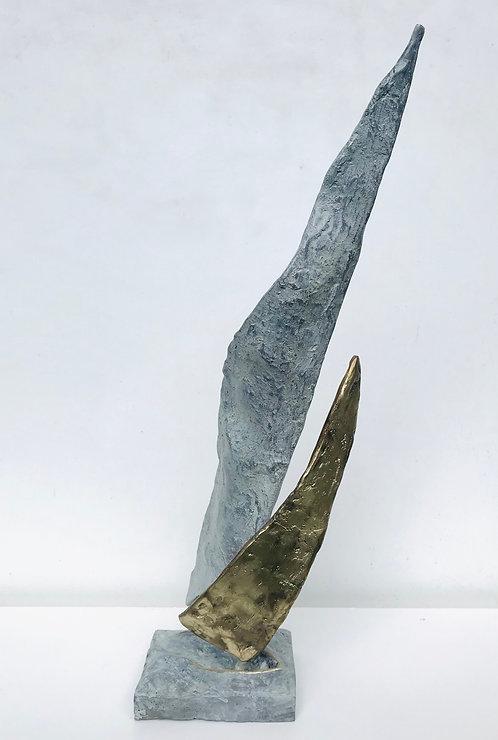 Le grand voilier blanc  | 54cm