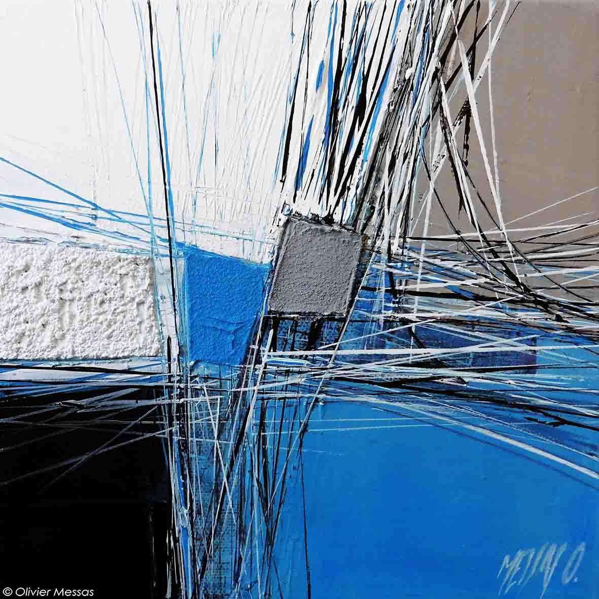 Paysage en bleu II, 20/20cm
