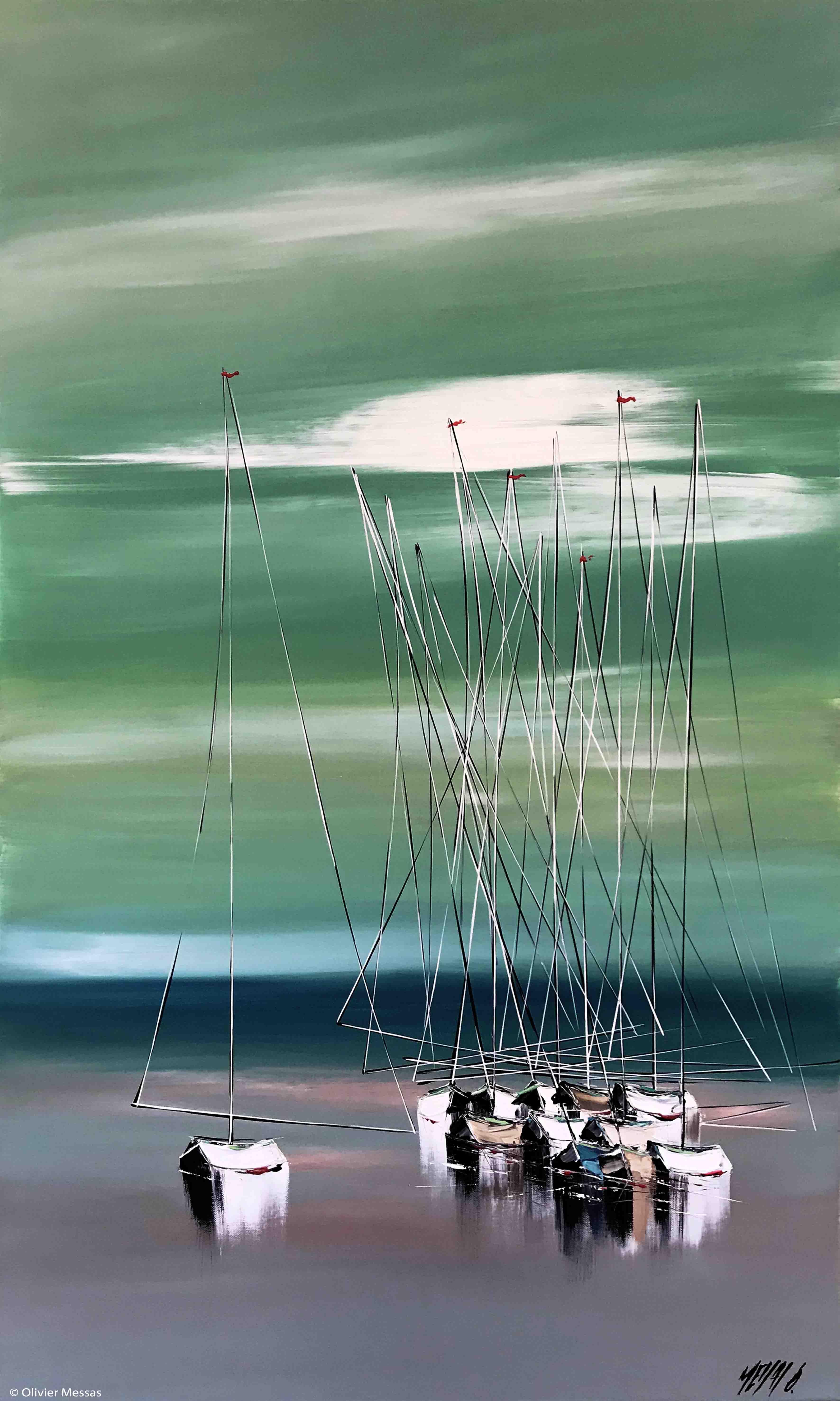 A marée basse..., 100x60cm