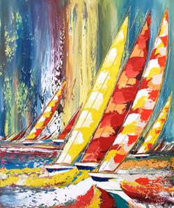 Un vent de Liberté... III, 120x100cm