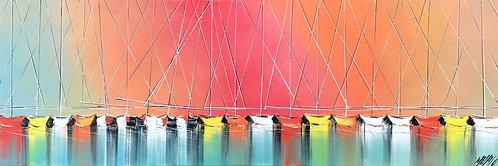 Les couleurs de l'arc-en ciel.. | 40x120cm
