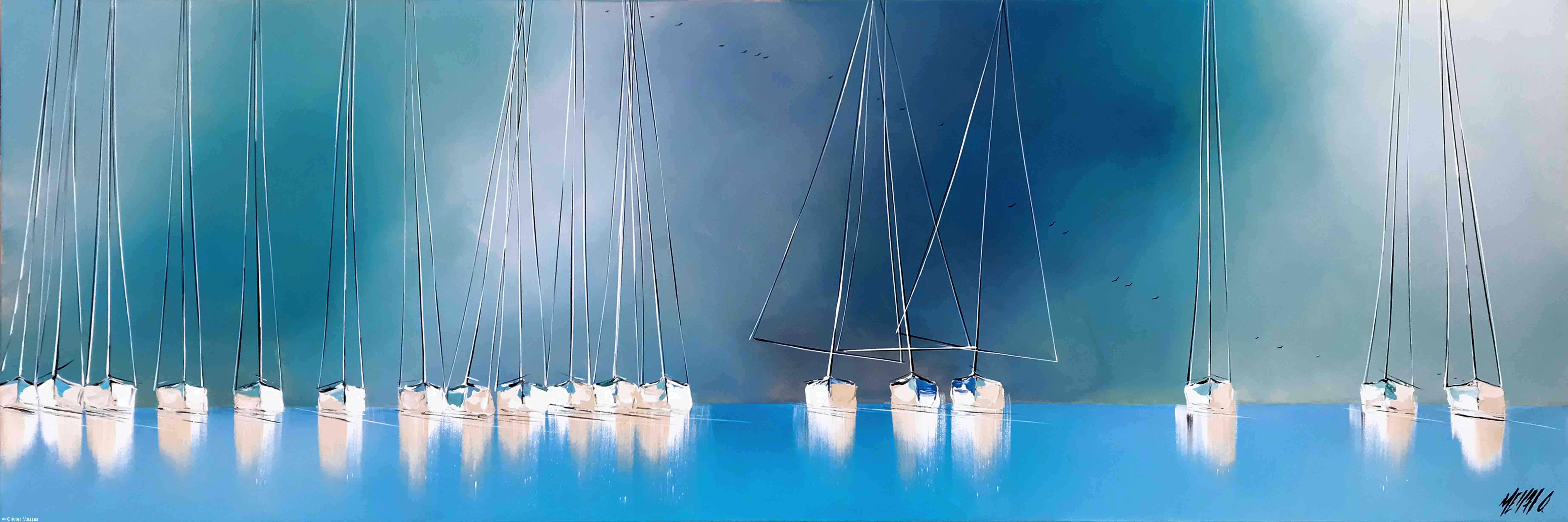 Le chant des mâts... III, 50x150cm