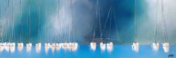 Le chant des mâts... III   50x150cm