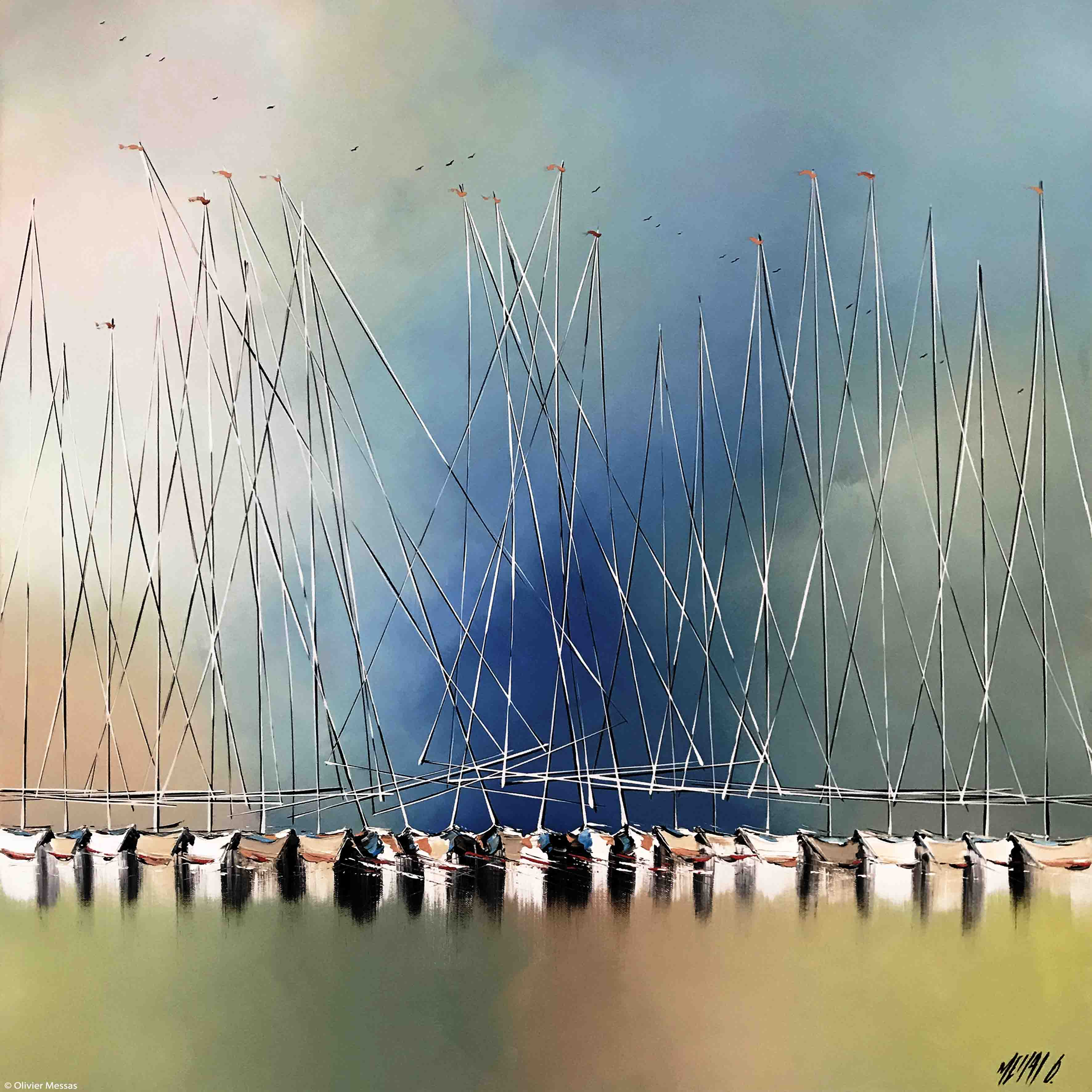 Ciel bleu d'été..., 80x80cm