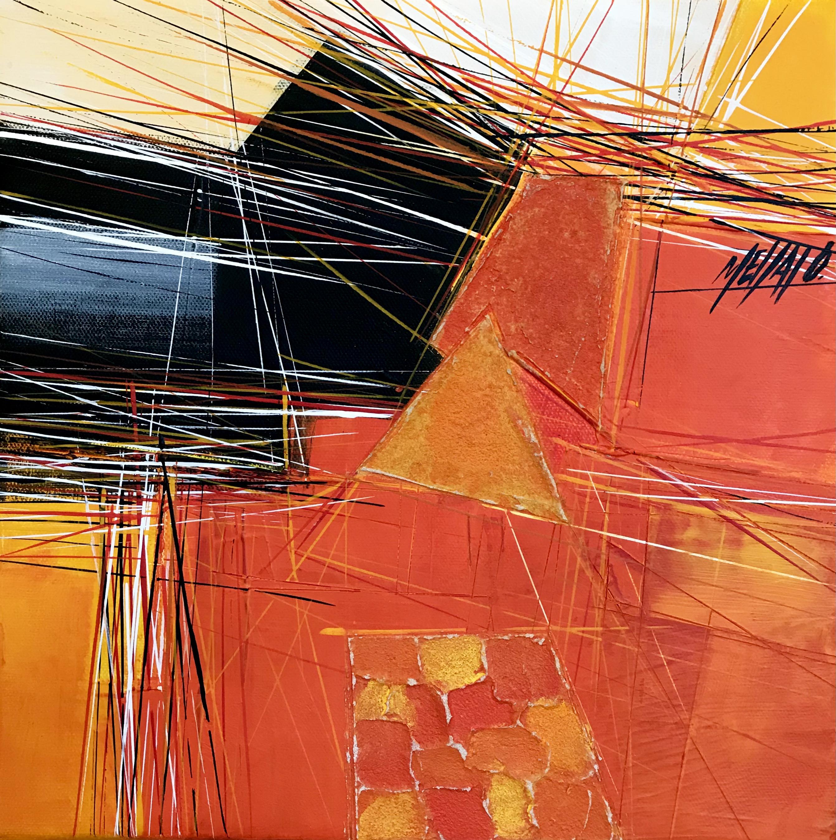 Paysage en orange... VI   30x30cm