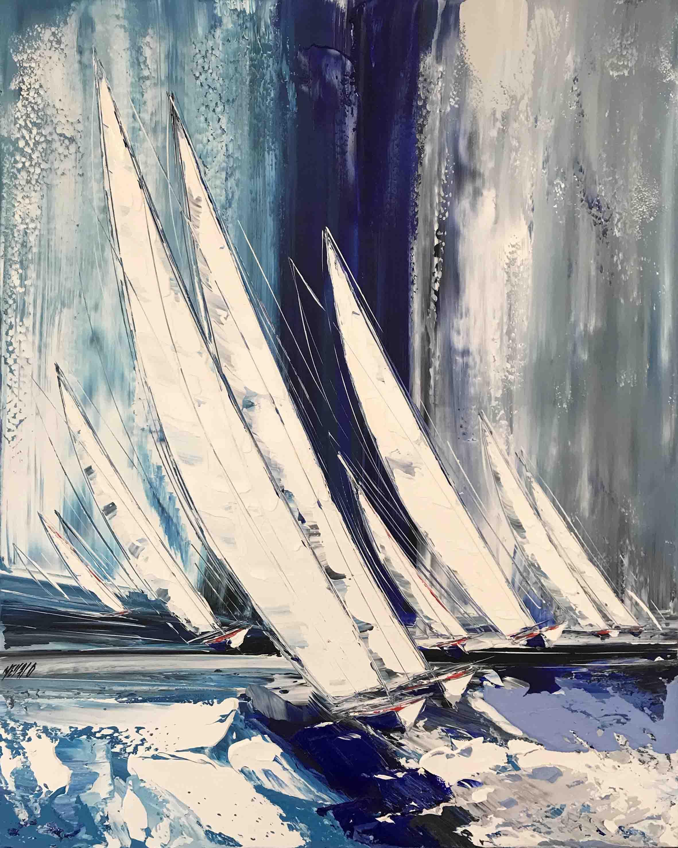 Entre vent et vague..., 100x80cm