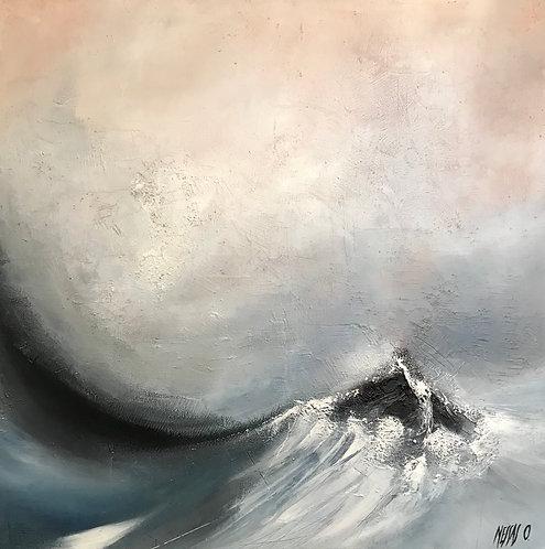 Dans le creux de la vague... | 70x70cm
