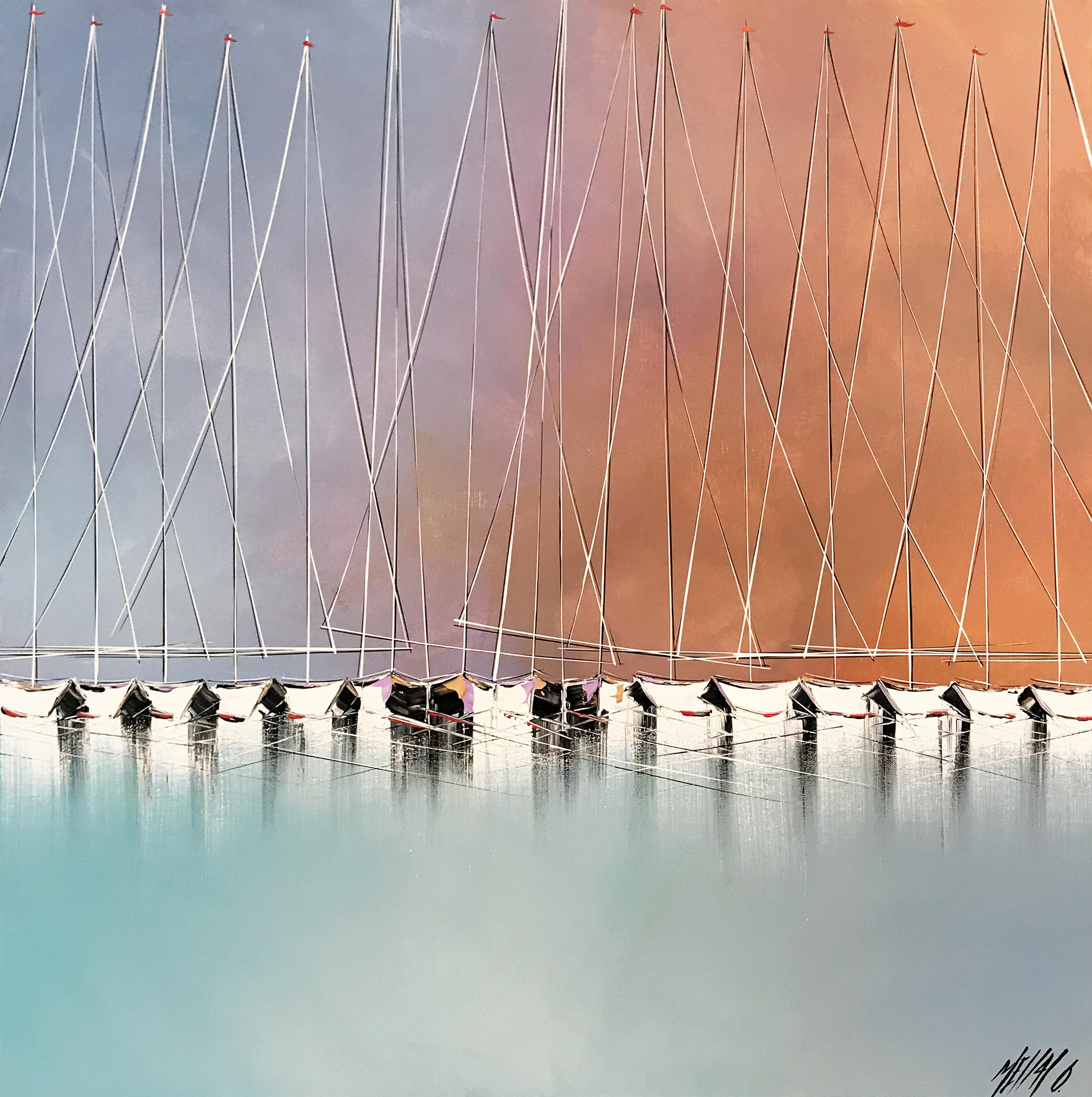 Voiliers entre ciel et mer | 80x80cm