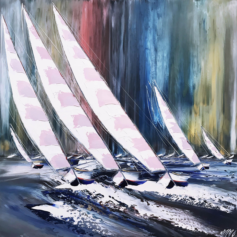 Poussé par le vent et les vagues... | 100x100