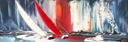 La voile rouge... | 40x120cm